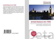 Bookcover of United Nations Act 1946