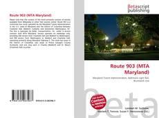 Capa do livro de Route 903 (MTA Maryland)