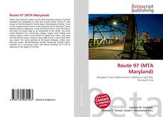 Capa do livro de Route 97 (MTA Maryland)