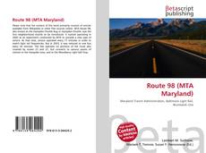Capa do livro de Route 98 (MTA Maryland)