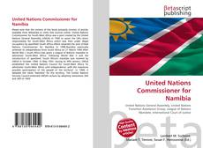 Buchcover von United Nations Commissioner for Namibia