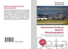 Buchcover von Bahnstrecke Duisburg-Ruhrort–Mönchengladbach