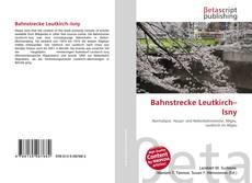 Bahnstrecke Leutkirch–Isny kitap kapağı