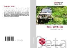 Buchcover von Rover 600 Series