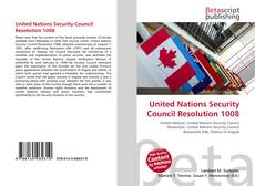 Bookcover of United Nations Security Council Resolution 1008