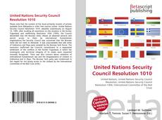 Bookcover of United Nations Security Council Resolution 1010