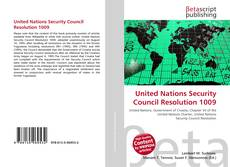 Bookcover of United Nations Security Council Resolution 1009