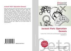 Jurassic Park: Operation Genesis kitap kapağı