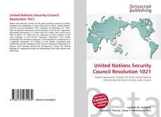 Portada del libro de United Nations Security Council Resolution 1021