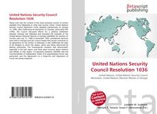 Bookcover of United Nations Security Council Resolution 1036