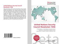 Bookcover of United Nations Security Council Resolution 1056