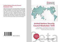 Copertina di United Nations Security Council Resolution 1078