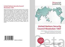 Bookcover of United Nations Security Council Resolution 1067