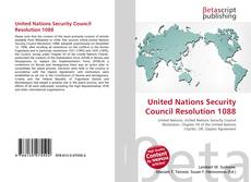 Обложка United Nations Security Council Resolution 1088