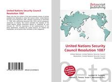Bookcover of United Nations Security Council Resolution 1087