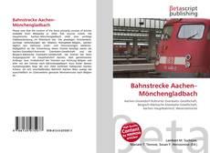 Capa do livro de Bahnstrecke Aachen–Mönchengladbach
