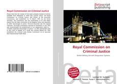 Royal Commission on Criminal Justice kitap kapağı