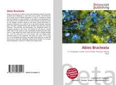 Bookcover of Abies Bracteata