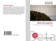 Bookcover of Abies Durangensis