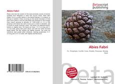Bookcover of Abies Fabri