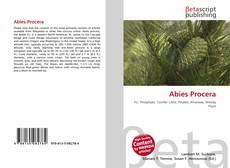 Buchcover von Abies Procera