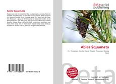 Bookcover of Abies Squamata