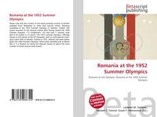 Romania at the 1952 Summer Olympics kitap kapağı