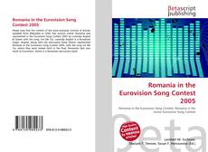 Bookcover of Romania in the Eurovision Song Contest 2005