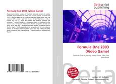 Capa do livro de Formula One 2003 (Video Game)