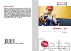 Buchcover von Formula 1 98
