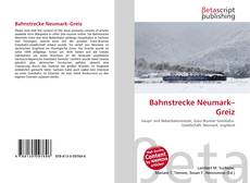 Buchcover von Bahnstrecke Neumark–Greiz