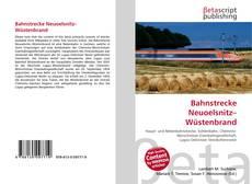 Buchcover von Bahnstrecke Neuoelsnitz–Wüstenbrand