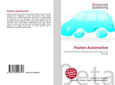 Bookcover of Paxton Automotive