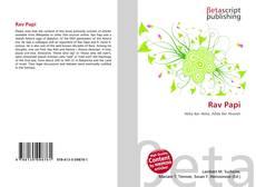 Bookcover of Rav Papi