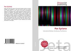 Bookcover of Pax Syriana