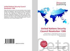 Bookcover of United Nations Security Council Resolution 1386