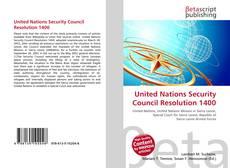Copertina di United Nations Security Council Resolution 1400