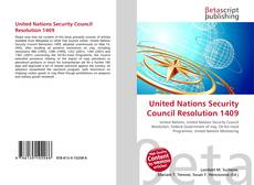 Bookcover of United Nations Security Council Resolution 1409