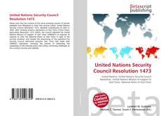 Copertina di United Nations Security Council Resolution 1473