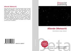 Allende (Meteorit) kitap kapağı