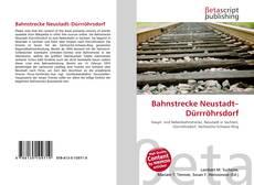 Borítókép a  Bahnstrecke Neustadt–Dürrröhrsdorf - hoz