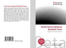 Buchcover von South Korea National Baseball Team