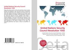 Bookcover of United Nations Security Council Resolution 1592