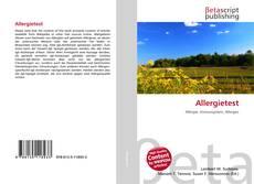 Buchcover von Allergietest