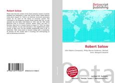 Copertina di Robert Solow