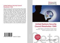 United Nations Security Council Resolution 1944 kitap kapağı