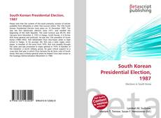 Bookcover of South Korean Presidential Election, 1987