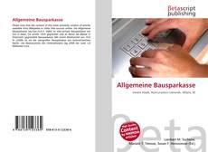 Обложка Allgemeine Bausparkasse