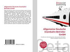 Capa do livro de Allgemeine Deutsche Eisenbahn-Betriebs-GmbH