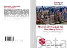 Обложка Allgemeine Erklärung der Menschenpflichten